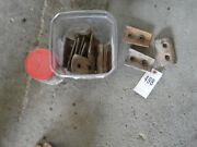 Approx. 20 Field Cultivator Shank Protector Brackets W/ New Bolts Tag 498
