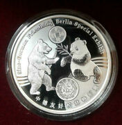 2017 China 1oz .999 Fine Silver Panda Proof Berlin World Money Fair Special Coin