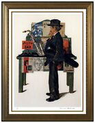 Norman Rockwell Jazz It Up Lithograph Hand Signed Saturday Evening Post Art Sbo