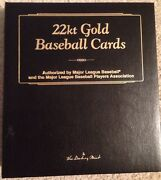 22k Gold Baseball Card Collection In Collectors Album By Danbury Mint 50 Cards