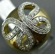 Estate Extra Large .45ct Diamond 14k Yellow Gold 3d Butterfly Infinity Dome Ring