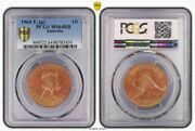 1964 P Australia Penny Pcgs Ms64rb Red-brown This Coin Is In Favor