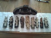 Old Stone Figurine Set Of 8 Immortals And Lao Tse Very Nice