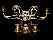 Wall Lights Solid Bronze Art Nouveau For Candles Large Handcrafted