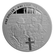 New Zealand - 2017 - Silver Dollar Proof Coin - 1917 The Darkest Hour