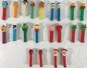 Lot Of 21 Pez Candy Dispensers Collection Santa Kermit Heart Spiderman Garfield