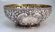 Repousse Fruit Bowl Gorham Cluny 1895 Sterling Silver 10 Inch