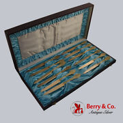 Antique And Co Italian Set Of 12 Dessert Knives Sterling Silver 1870