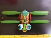 Rare Vintage Toy Cragstan Tin Wind Up Dragonfly Made In Japan Toy Tin Toy Lot