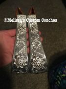 Western Engraved Bling Bell Stirrups With Conchos