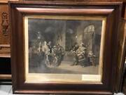 Antique 1860/61 Henry Iv Falstaff Mustering His Recruits Engraving