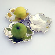 Sectional Triple Leaf Serving Dish Sterling Silver Reed Barton 1956