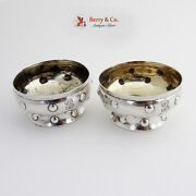 And Co Open Salt Cellars Dishes Sterling Silver 1890