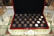 Boxed Set Of Kennedy Half Dollar Proofs 1968/1998