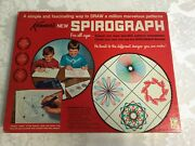Vintage Kenner Super Spirograph 1967 No Pens Red Box Blue Tray Refill Kits