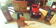 Marx Tin Litho Sunny Side Gas Service Station And Wyandotte Coupe With Lights