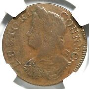 1787 16.6-nn.2 R-6 Ngc Vf 25 Draped Bust Left Connecticut Colonial Copper Coin