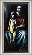 Noel Rockmore Original Oil Painting On Board Signed Mother Child Art Sub Offers