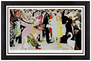 Norman Rockwell Original Hand Signed Lithograph Illustration Saturday People Art