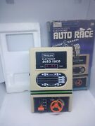 Vintage Sears Electronic Auto Race Handheld Game With Box