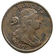 1802 S-235 R-3 Draped Bust Large Cent Coin 1c