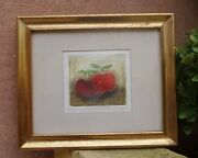 Vicente Gandia 1935-2009 Limited Edition 20/25 Apples Etching Signed