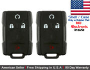 2 New Replacement Keyless Key Fob Remote For Chevy Gmc Shell Case Only