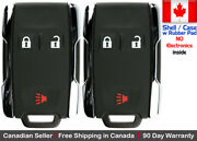 2x New Replacement Keyless Key Fob Remote For Chevy Gmc Shell Case Only