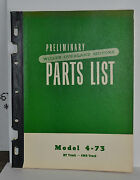 Vtg 1950 Willys Overland Ht Truck Model 4-73 Preliminary Parts List Pickup Jeep