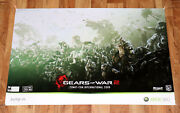 Gears Of War 2 Xbox 360 Extremely Rare Poster Comic Con 2009 Collectible