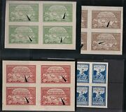 Russia 1921 Volga Relief Blk Scb14-17 Z18-21 Type I And Ii Wtk On Margine 211