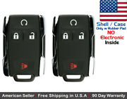 2x New Replacement Keyless Key Fob Remote For Chevy Gmc M3n 32337100 Shell Only