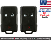 2 New Replacement Keyless Key Fob Remote For Chevy Gmc Shell Case Only 13577771