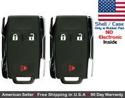 2x New Replacement Keyless Key Fob Remote For Chevy Gmc Shell Case Only 13577771