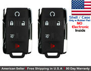 2x New Replacement Keyless Key Fob Remote For Chevy Gmc Gm 13580081 Shell Only