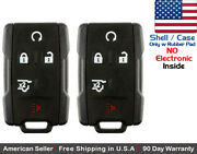 2 New Replacement Keyless Key Fob Remote For Chevy Gmc Gm13580081 Shell Only