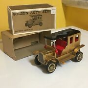 Nomura Vintage Battery Operated Golden Auto Series 1908 Cadillac Working W/box