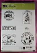 Antique Tags Stampin' Up Christmas Old-fashioned Holidays Cling Rubber Stamps