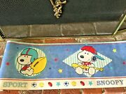 New Vtg Little Snoopy Sport Wallpaper Border 10x15 Lambs And Ivy Co 1 Roll 15 Feet