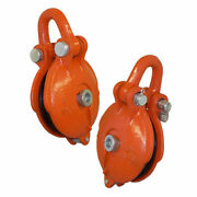 4.5 Ton Bail Snatch Block Hoist Rig-ging Shackle Wire Rope 5 Pulley