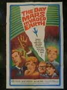 The Day Mars Invaded Earth Original 1963 Movie Poster, 27 X 41, C8.5 Vf/nmint