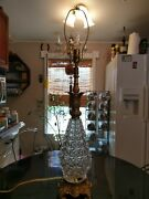 Antique Crystal Pineapple Table Lamp 100 Restored