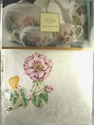 Lenox American By Design Butterfly Meadow Linen Tablecloth 60x120 Oblong Nwt