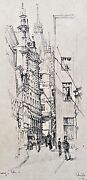 Robert Austin Original Graphite Drawing Pencil Signed Dated 1919 Germany Framed