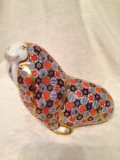 Very Rare Vintage Royal Crown Derby Russian Walrus Paperweigh With Gold Stopper
