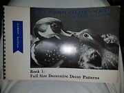 Blue Ribbon Pattern Series Book 1 Full Size Decoy Patterns William Veasey Signed