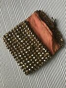 Whiting And Davis Mesh Purse Gold Vintage Mini Coin Clutch Bag Metal Antique