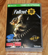 Fallout 76 Rare Limited Preorder Box T-shirt Beta Xbox One Ps4 No Game 2 3 4 .,