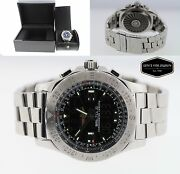 Breitling Airwolf Stainless Steel 44mm Menand039s Digital/analog Watch A7836334/f551