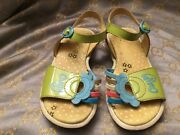 Oilily,leather Girls Sandals,size 27 Eu,made In Italy. Discontinued